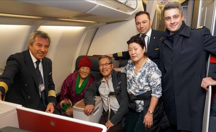 Oldest passenger of Turkish Airlines crossed continents