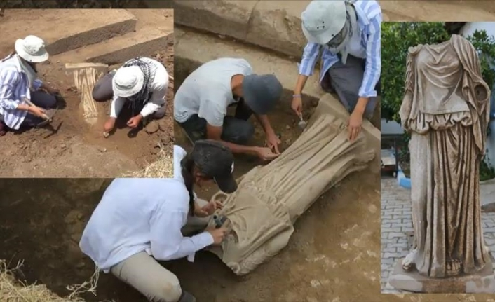 1,800-year-old statue of woman found in western Turkey