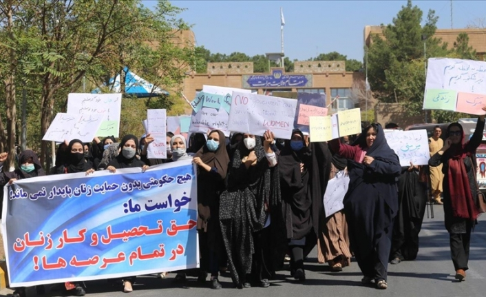 Women in western Afghanistan demand their rights be protected