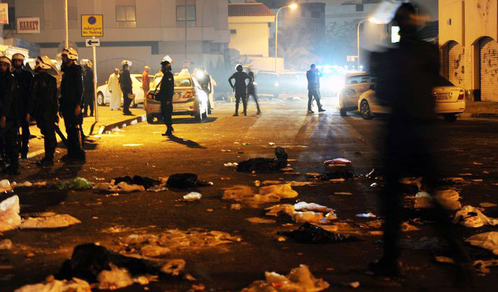 Two Bahraini security officers seriously injured by homemade bomb