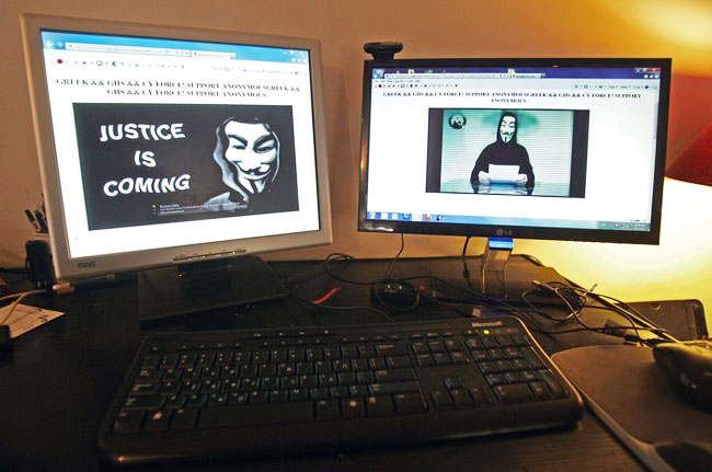 Hacker group Anonymous infiltrating US army, says report