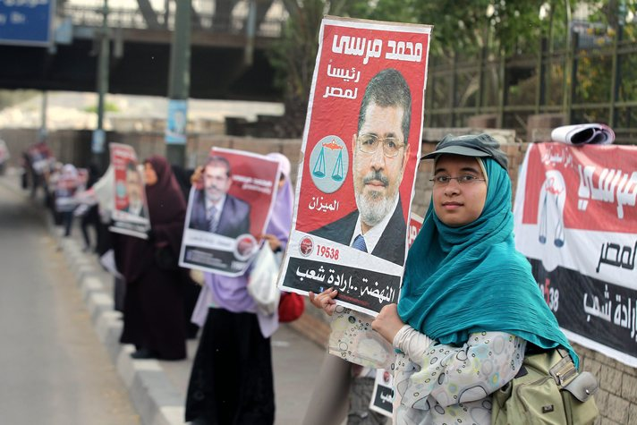 Two men to race for Egypt's FJP head, first woman fails