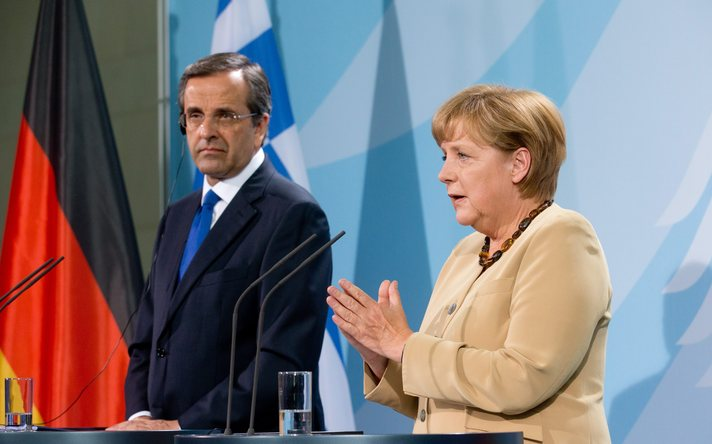 Merkel to face protests on first crisis visit to Greece