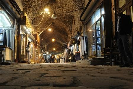 Large part of ancient souk in Aleppo damaged