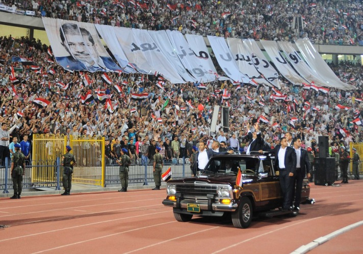 Egypt's Mursi gives an account of 100-day promise