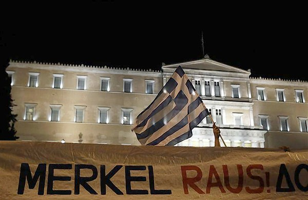 Merkel facing protests by angry Greeks on first trip