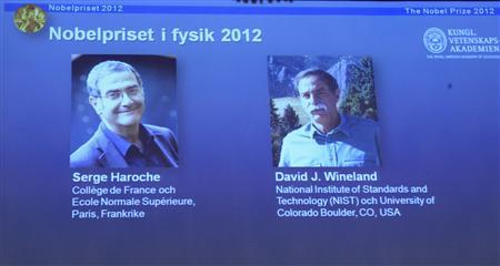 Quantum particle work wins Nobel for French, U.S. scientists