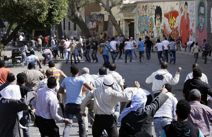 110 reported injured in Egypt clash