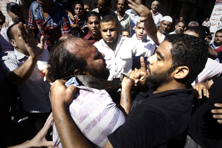 Scuffles erupt in Egypt protests against 'camel' rulings