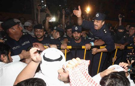 Five arrested at big Kuwait anti-government rally