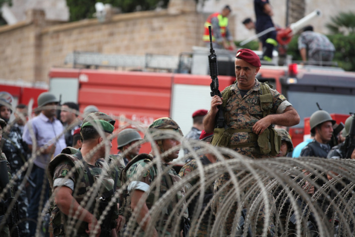 Lebanese security forces seize car loaded with explosives