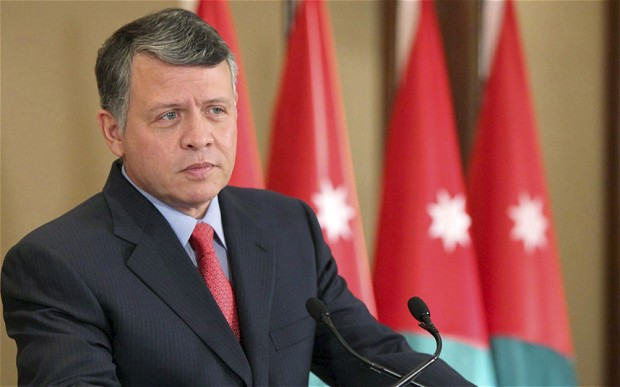 Jordan's king first Arab visit since Morsi ouster