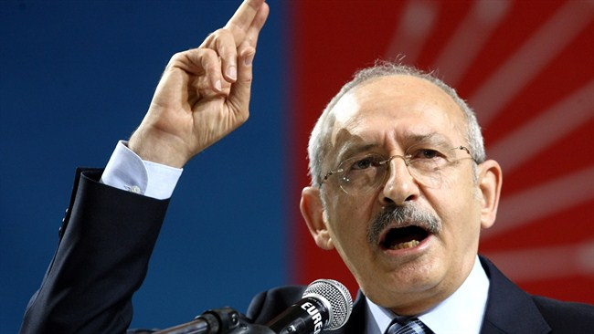 Turkish main opposition leader condemns Egypt coup