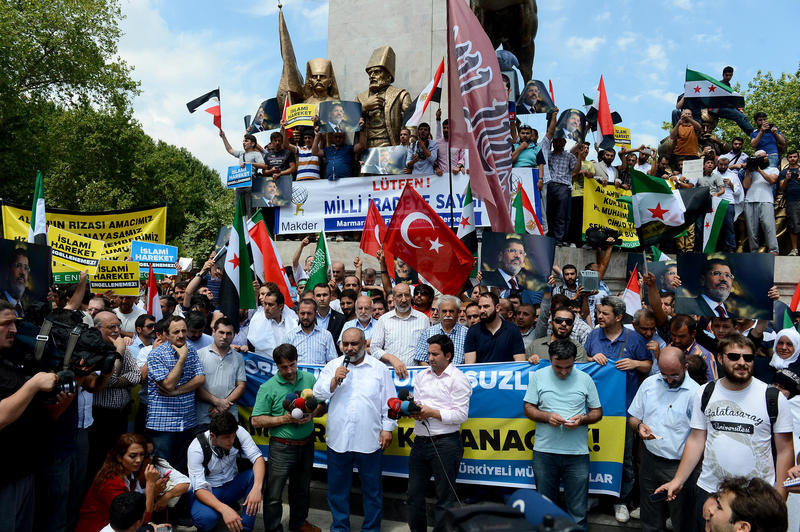 March against the Egypt military coup in Istanbul
