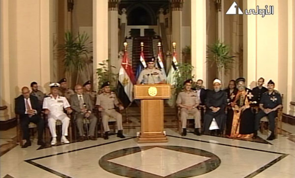 Egypt's new gov't made of Morsi opponents, technocrats