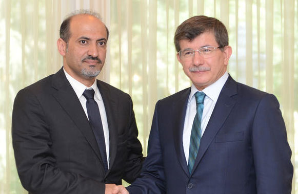 Turkey's FM meets new Syrian National Coalition leader