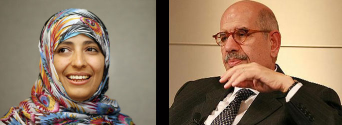 Two Nobel laureates with different attitudes to Egypt's coup