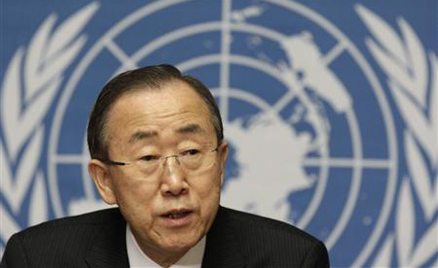 Geneva II must convene ASAP, says UN SG