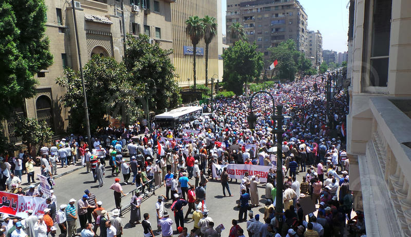 Thousands of Morsi supporters in streets