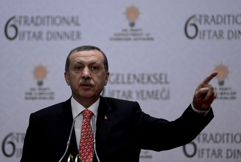 Erdogan accuses world of double standards on Egypt
