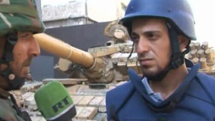 Russia Today reporter injured in Syria