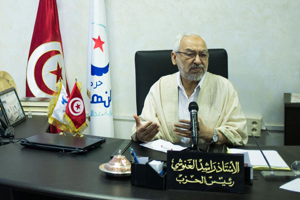 Tunisia's Al-Nahda mediates in Egypt, says Gannushi