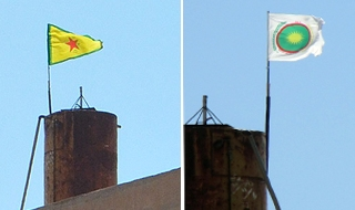 PYD flag in Ras Al-Ayn replaced with Syrian Local Coordination Committees flag