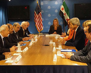 Syrian opposition urges Kerry to provide weapons