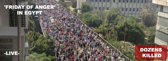 'Friday of anger' in Egypt - LIVE
