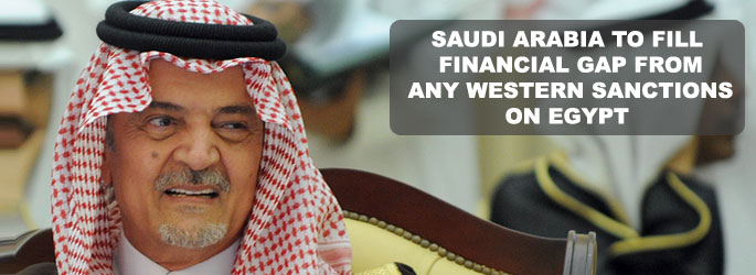 Saudi Arabia to fill financial gap from any Western sanctions on Egypt