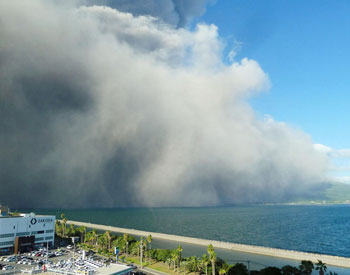 Volcano in southern Japan erupts with ash plume