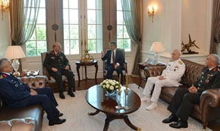 Turkish general pay farewell visit to President