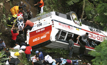32 feared dead after bus plunges into ravine in Malaysia