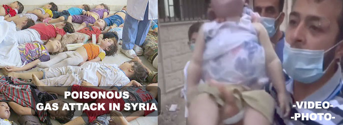 Death toll from alleged chemical attack rises to 1300 in Syria