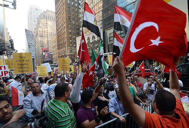 'Erdogan is the only leader supporting the Egyptians'