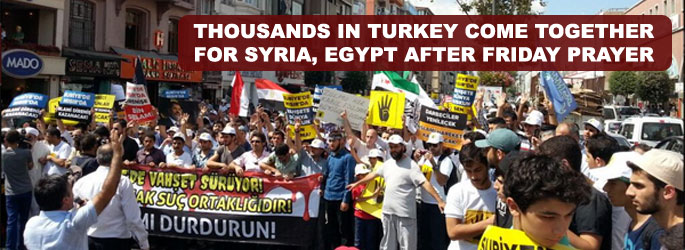 Thousands in Turkey come together for Syria, Egypt- UPDATED