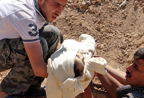 Syrian opposition smuggled attack samples out