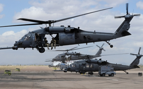 Four US Air Force helicopter crew believed killed in British crash