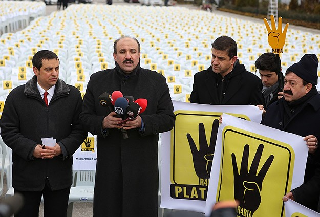 Turkish rights group protests Egypt coup outside embassy