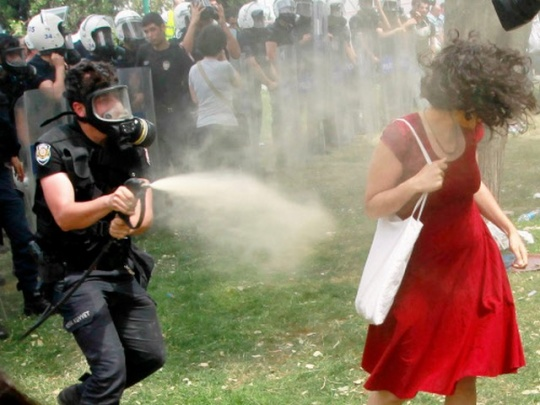 Turkish police officer faces jail over tear gas misuse