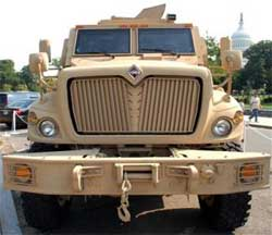 Pentagon to fly armored vehicles to Iraq: report