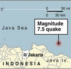 Powerful earthquake hits Indonesia