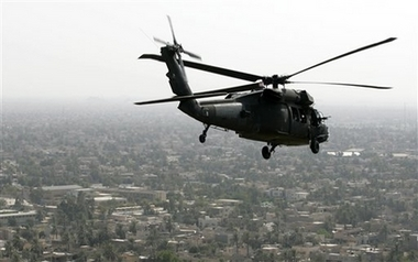 U.S. helicopter forced down near Baghdad