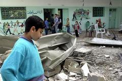 14 Palestinians wounded in Israeli air raid