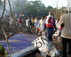 Jet with 104 aboard crashes in Nigeria