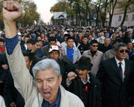 Protests mount in Kyrgyzstan