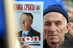 Serbian nationalist goes on trial