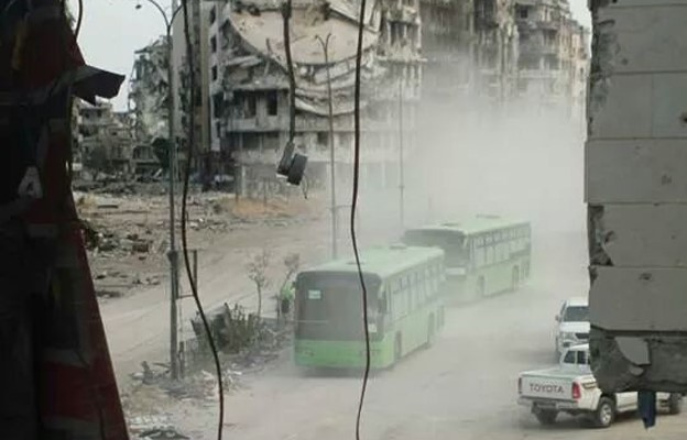 Food enters Syria's besieged Homs city after local deal