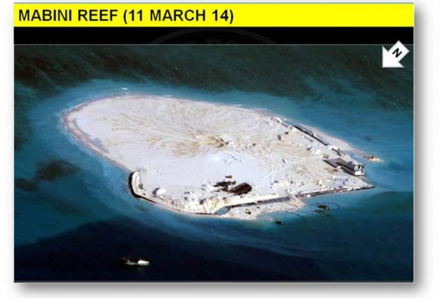 Philippines complains of China work on disputed reef