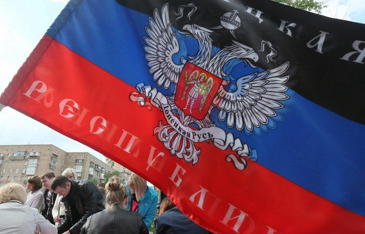 Miners rally in favour of separatists in eastern Ukraine